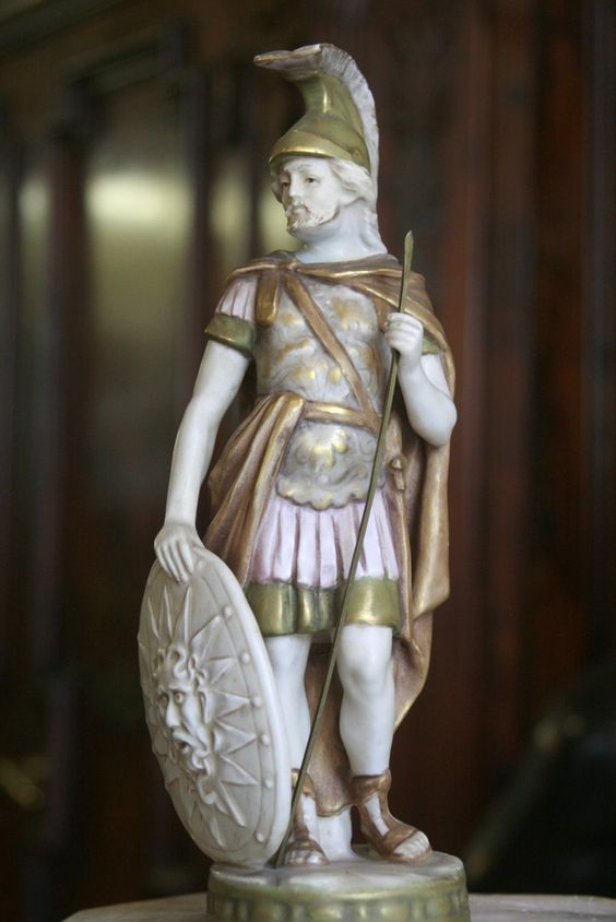 #Porcelain #statuette of a #Roman #Emperor. #19thcentury. For sale on #Proantic by Galerie Roma.