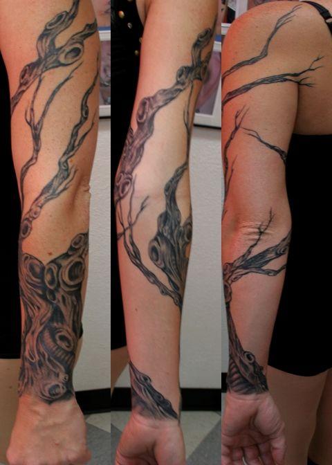 Family Tree Tattoo Sleeve Ideas Check More At Https Tattoosrpictures Com Family Tree Tattoo In 2020 Tree Sleeve Tattoo Tree Sleeve Sleeve Tattoos For Women