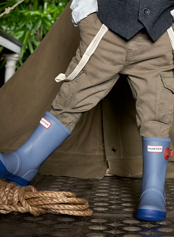 Add some cheer to a rainy day in these Kids Original Contrast rain boots. http://usa.hunter-boot.com/product/kids-original-contrast-rain-boots