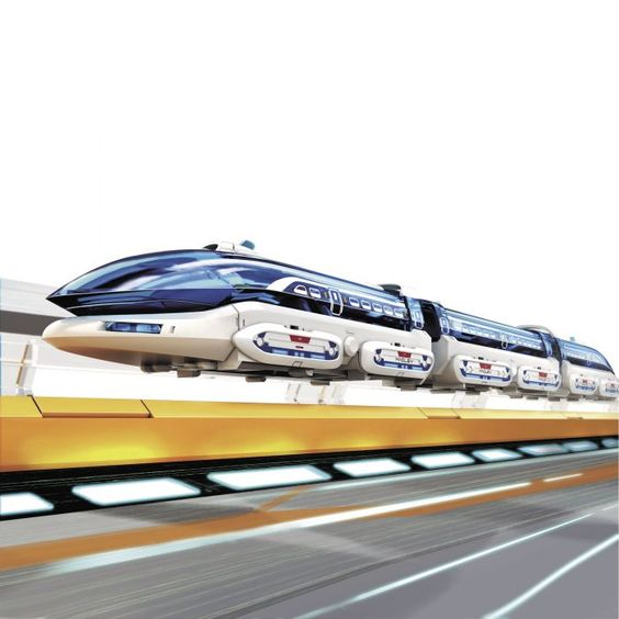 tren con levitación magnética para armar