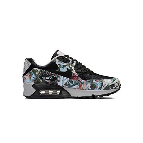 Nike Women's Air Max 90 BlackBlackVast Grey Leather Run