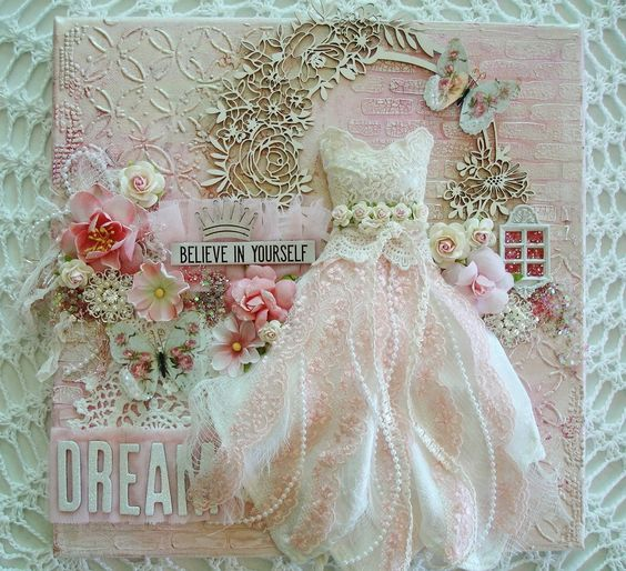 Shabby Pink Roses Glass Wing Double Butterflies Everyday Elegance Frame Mini Pink & Ivory Mulberry Paper Roses Pink Silver Shard Glitter Glass Silver Christmas Glass Glitter White Pearl & Rhinestone Button set Prima Flowers~Haley Prima White Crackle Texture Paste Enchanted Light Pink Lace Tattered Rose Pleated Tulle Timeless Vintage Ivory Lace Delicate Beauty Guipere Lace