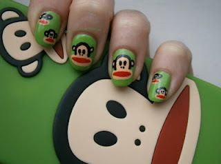 Paul Frank nails  holy crap these are adorable!!!