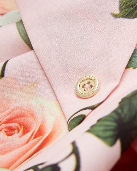 Secret Trellis skinny scarf - Baby Pink | Scarves | Ted Baker