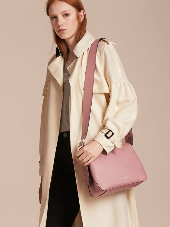 A sleek leather Burberry crossbody bag designed to store the essentials.