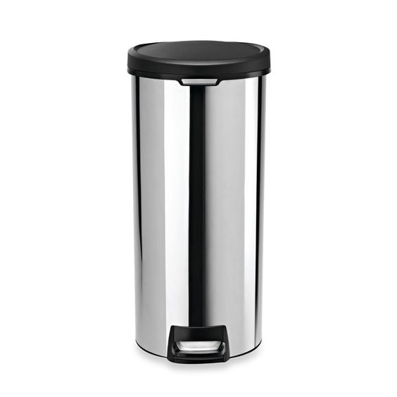 simplehuman® 30-Liter Round Stainless Steel Step Trash Can - Bed ...