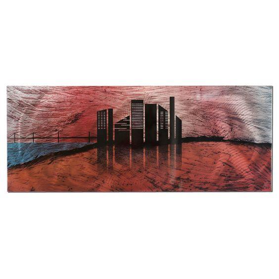 City Silhouette by Nicholas Yust Graphic Art Plaque