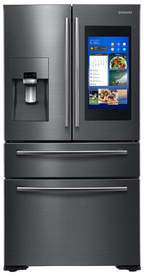 Samsung 36 Inch French Door Refrigerator Black Stainless Steel Rf22npedbsg Samsung Kitchen Smart Fridge Refrigerator