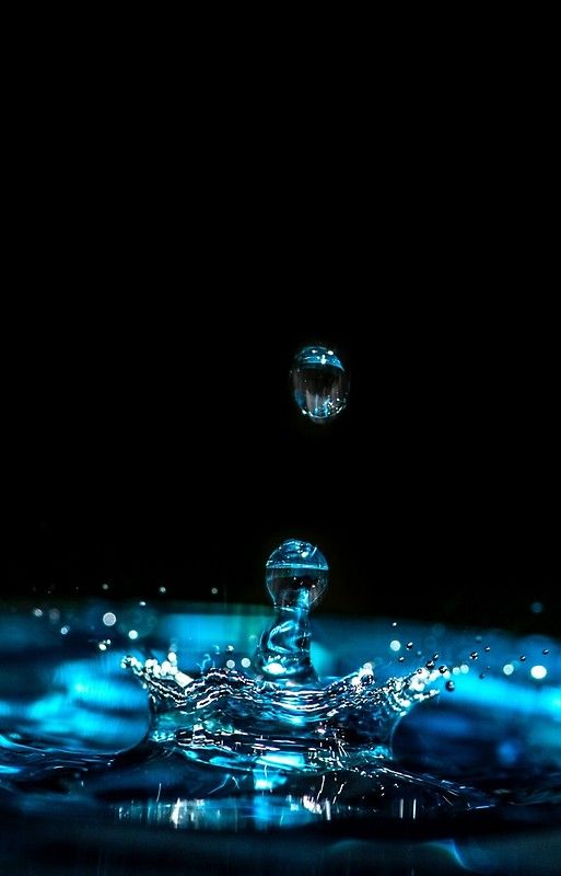 Dripping Rain Storm Weather Drip Pool Puddle Blue Water Wallpaper Blue Wallpaper Iphone Water Droplets Art Iphone water wallpaper hd download