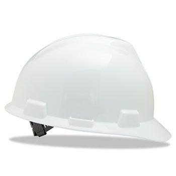 V-Gard Hard Hats, Staz-On Pin-Lock Suspension, Size 6 1/2 - 8, White