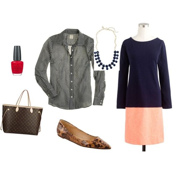 """""""Maritime Colorblock Dress"""" by admd on Polyvore"""