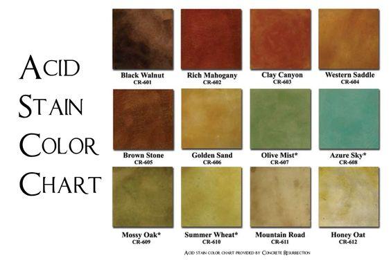 Behr Concrete Stain Colors Concrete Revival Color