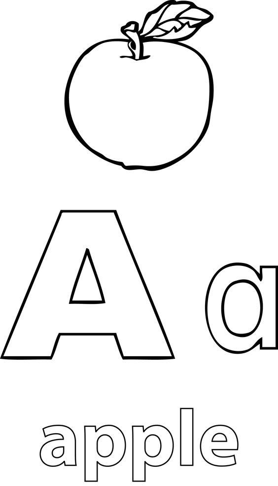 nice A Alphabet Apple Coloring