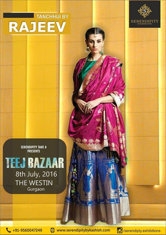 Customize Indian Ethnic wear from Tanchhui by Rajeev is here with their exclusive collection of SARIS ,SUITS,ETHNIC SKIRTS,GOTTA PATTI BLOUSES ,MIRROR WORK SUITS AND HUGE RANGE OF DESIGNER Wear.. @ ‪#‎Serendipity_take_8‬ ‪#‎Teej_Bazaar‬ at The Westin Gurgaon on 8th July