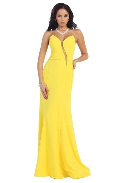 Strapless fitted long dress 100-rq7360