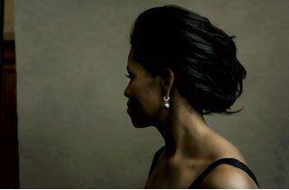Michelle Obama shot by  Annie Leibovitz for US Vogue 2007