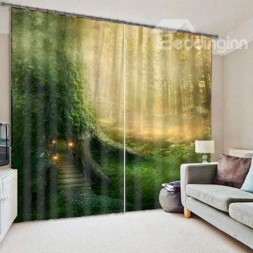 Forest Cabin Living Room&Bedroom 3D Blackout Curtain on sale, Buy ...