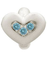 Endless Sterling Silver Sky Blue Triple Love with Blue CZ Charm