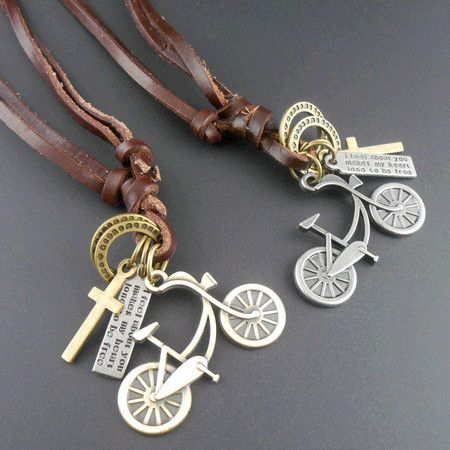 Vintage men genuine leather rope necklace long feather male leather cord necklace