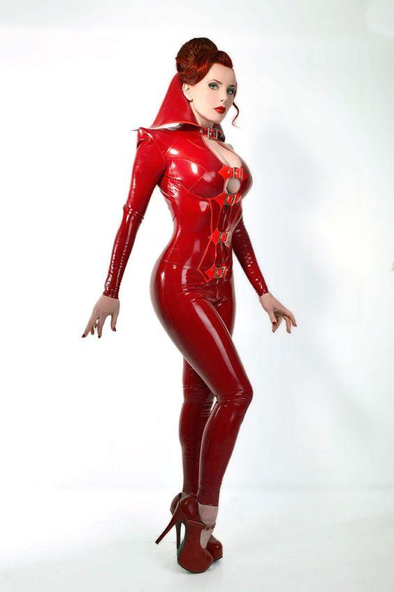 SATANA Latex Rubber Catsuit by HOUSEofHARLOT on Etsy, £332.50