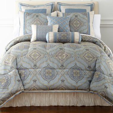 Victoria Falls 7 Pc Jacquard Comforter Set Amp Accessories