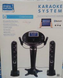 iPod Pedestal 2 Tower Speakers 7″ Color LCD by Singing Machine Best Brands Electronics Hardware Electrical Tools