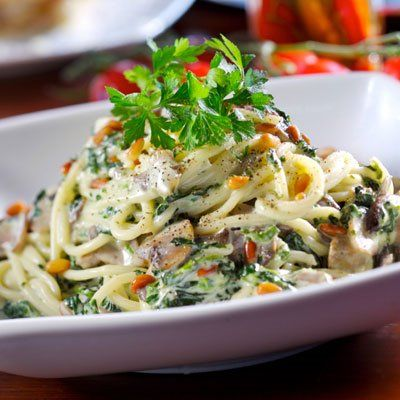 Mushroom broccoli basil pasta recipe