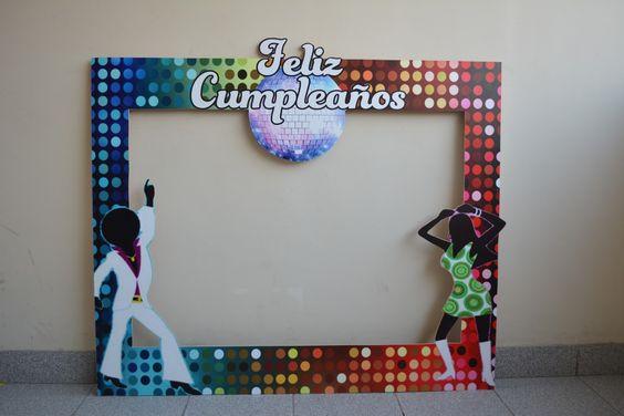 Marco De Fotos Cumpleaños Retro Años 70´s 80´s - S/. 85,00 en MercadoLibre
