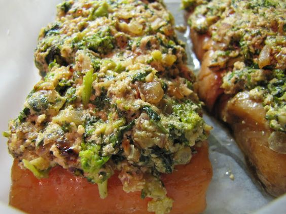 Salmon with a Topping