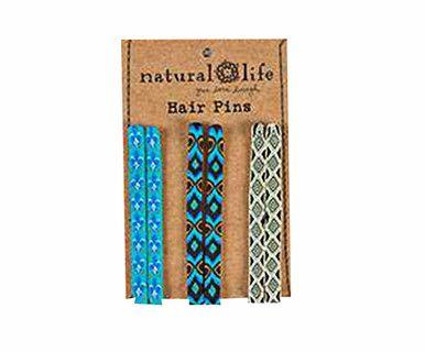 Hair Pins Bright Blue