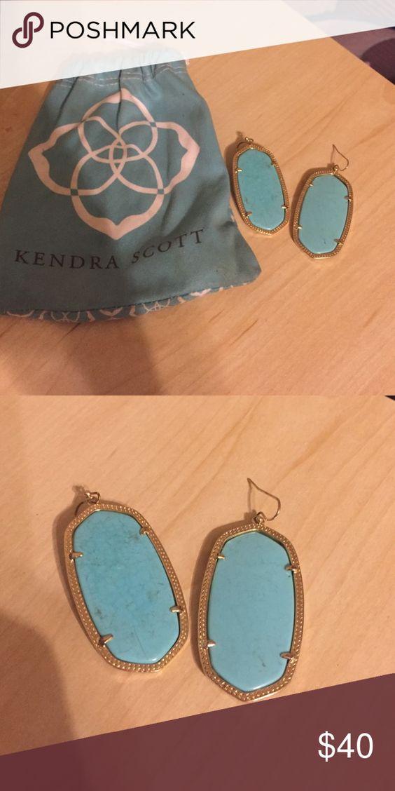 Kendra Scott turquoise Danielle earrings Danielle size earrings Kendra Scott Jewelry Earrings