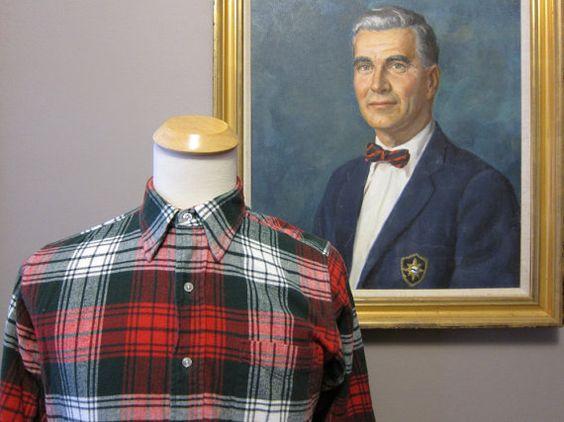 MENS - USA Made LL Bean Tartan Flannel Shirt 15.5 Medium    £16.22 GBP