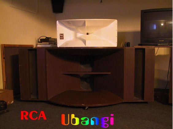 retro vintage modern hi-fi: RCA Theater Bass Horn Ubangi or MI-9462