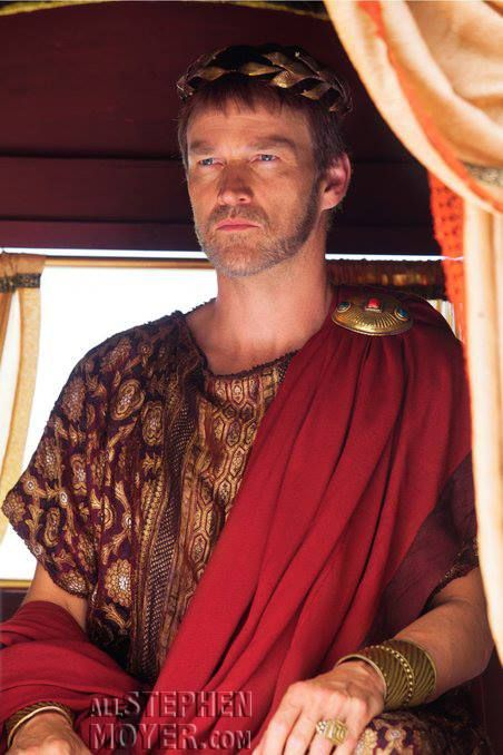 Stephen in character as Pontius Pilate in the movie Killing Jesus. Late 2014.