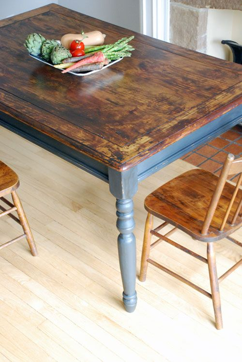 Rustic farm table For the Home Pinterest