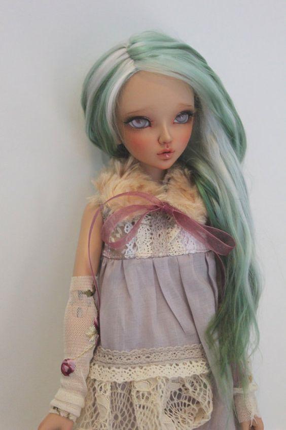 Handmade Alpaca Wig for MNF (Nymph Green)