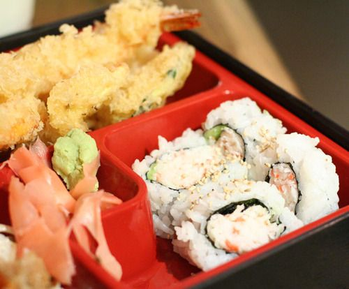 Japanese Bento Box with California Roll