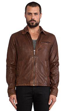 Nudie Jeans Ervin 50's Leather Jacket en Cognac