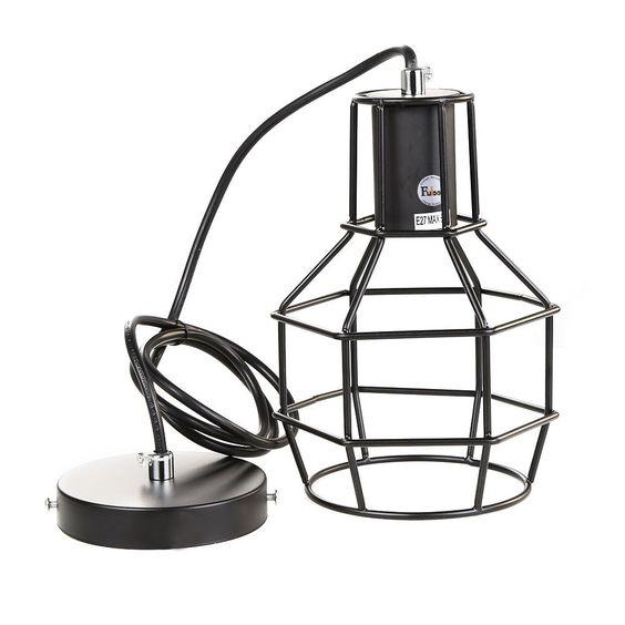 Suspension lampe baladeuse ampoule en cage 29 for Lampe ampoule suspension