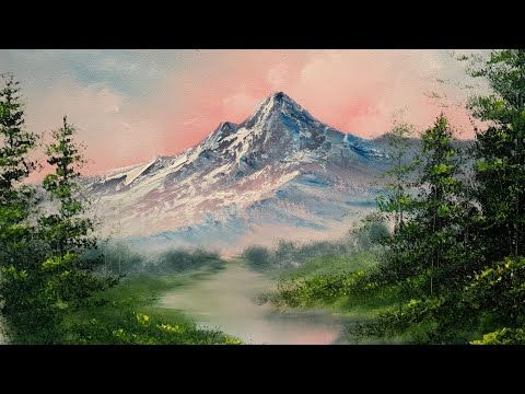 Painting A Sunset Mountain Landscape Quick And Easy Paintings By Justin Youtube Mountain Landscape Mountain Landscape Painting Canvas Painting Landscape