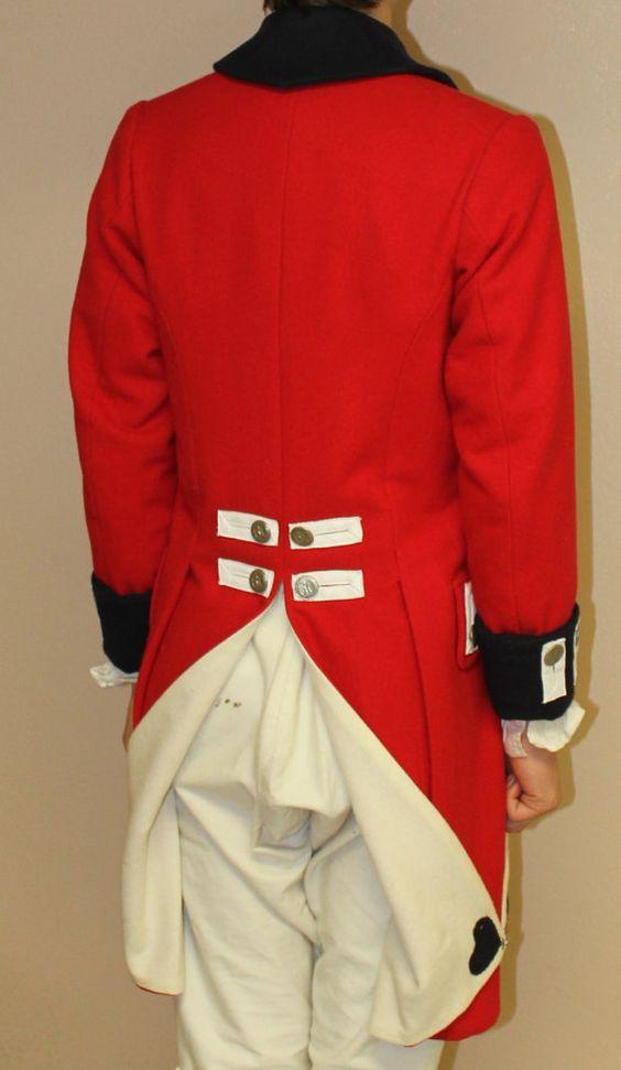 British Redcoat Uniform Jacket 1770s. $350.00 via Etsy