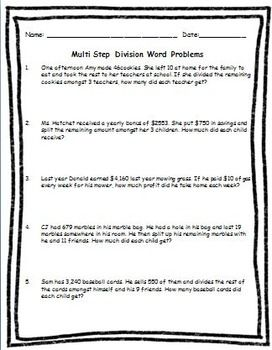 math worksheet : multi step multiplication and division word problems worksheets  : Multiple Step Word Problems Worksheets