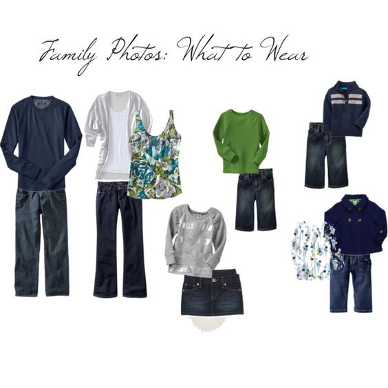 family what to wear- blues