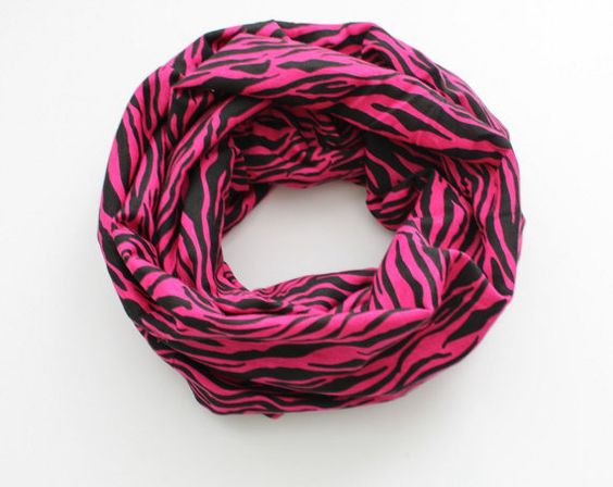 Pink Zebra Infinity Scarf Baby Scarf Toddler by BrittsBowtiqueVA