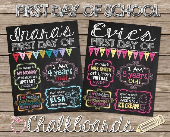 First Day School Chalkboard Sign Senior Year First Day Wonderful