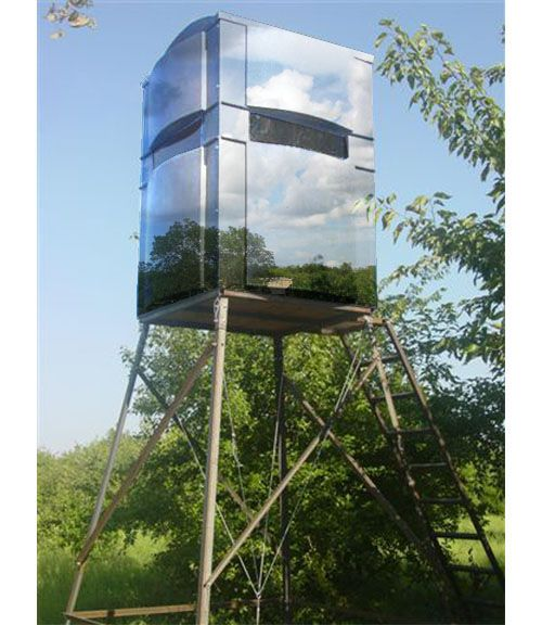Deer blind plans whitetail deer hunting blind stand for Inside deer blind ideas