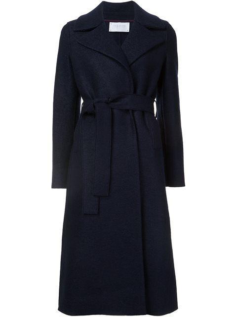 HARRIS WHARF LONDON Long Belted Coat. #harriswharflondon #cloth #coat