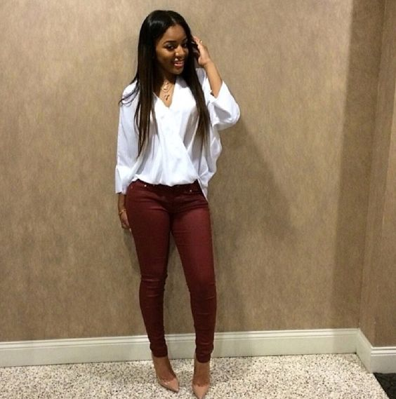 Brilliant Ways To Wear Maroon Pants Outfits