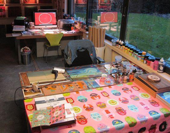 workstation - digital table and analog table