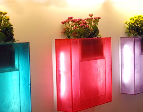 For indoor or outdoor, these vertical garden planters are a real treat!  Live Light is a plant mural prototype created by Rogers Design Group and Evo Design.    Read more: http://www.thedailygreen.com/living-green/vertical-gardens-50040609#ixzz1tvU8zxGg
